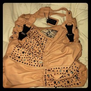 Large Pink and Studded Tote